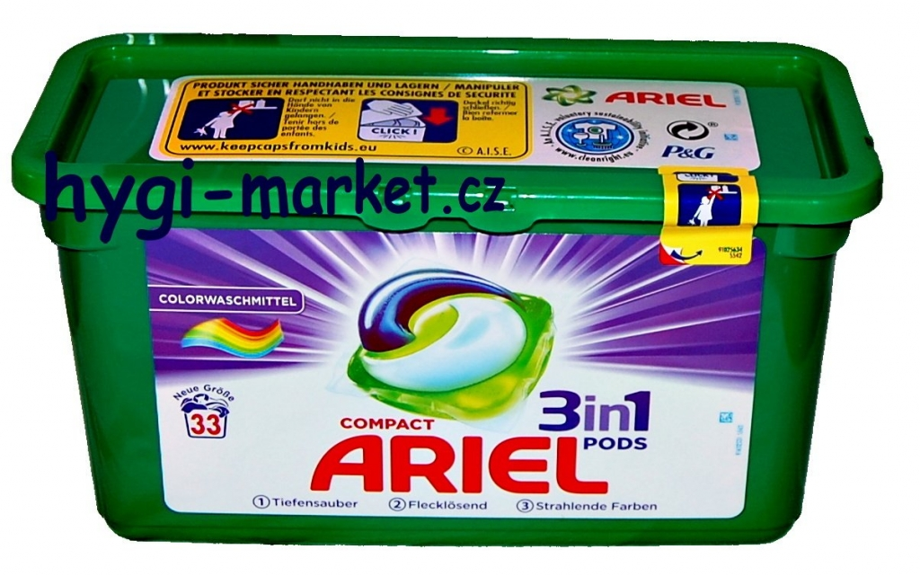 ARIEL 3in1 PODS COMPACT COLOR 35 ks