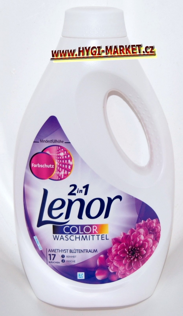 Lenor gel Amethyst Blutentraum 17 dávek  2in1  935ml