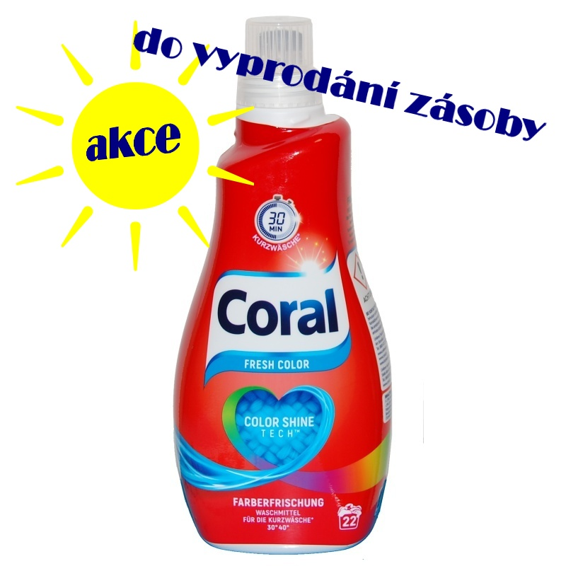 Coral Fresh Color Farberfrischerung Color Shine Tech prací gel na kratší programy