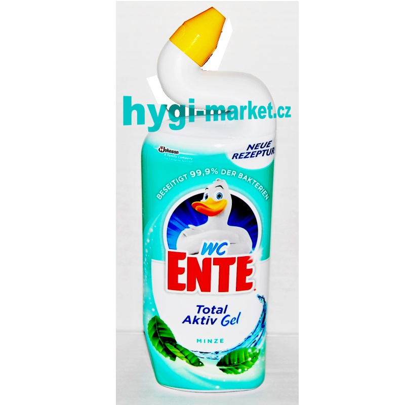 WC čistič kachna s vůní  MÁTY 750 ml (WC Ente Total Aktiv Gel Minze)