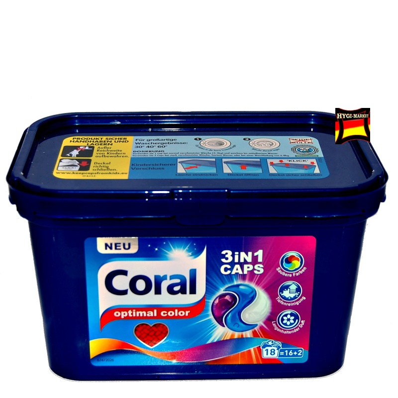 Coral kapsle OPTIMAL COLOR 3in1  18 ks