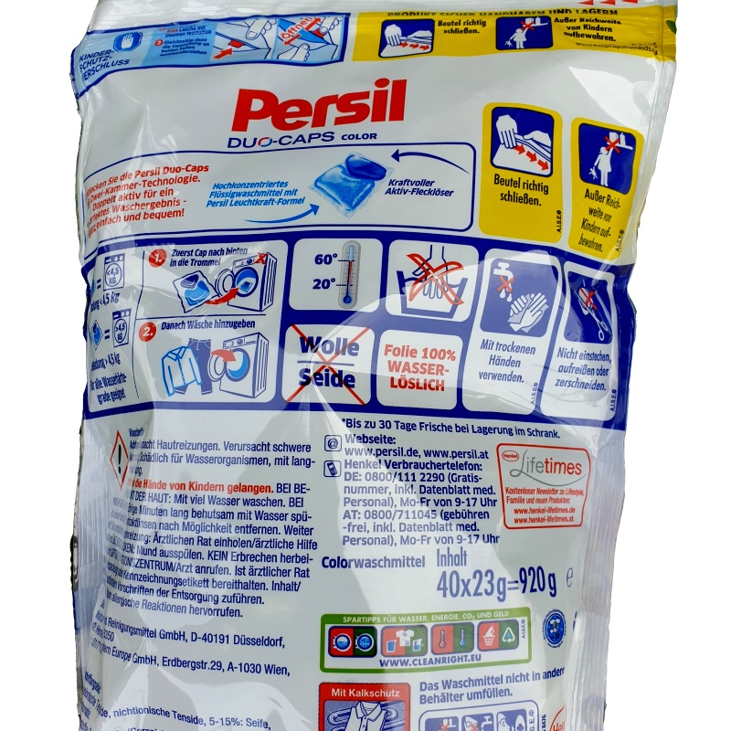 Persil DUO caps COLOR prací kapsle 40 ks TIEFEN REIN