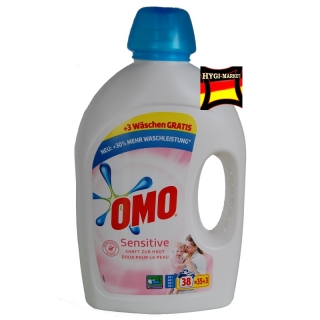 Omo SENSITIVE prací gel 38 dávek 1,9 litru