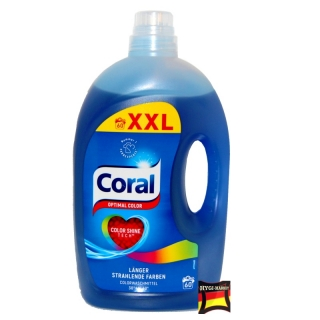 CORAL optimal COLOR gel XXL pack 60 praní 3 litry