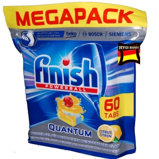 Finish Quantum CITRUS powerball 60 ks super power tablety do myčky dovoz z Německa