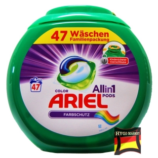 ARIEL kapsle ALL in1 Farbschutz COLOR PODS 47 ks v plastové dóze
